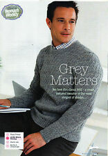 ~  Knitting Pattern For Man's Smart Textured Sweater To Knit ~