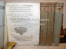 DIRITTO CANONICO: Berardi, DECRETO GRATIANI CONCILI 4 volumi 1783 VENEZIA