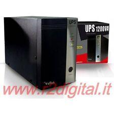 UPS VULTECH 1200 VA LED GRUPPO DI CONTINUITA CONTROLLO BATTERIA PC COMPUTE LCD