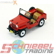 1953 Jeep Willys CJ3B [PremiumX PRD365] Rot, 1:43 Die Cast