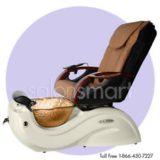 Pipeless Pedicure Pedi Foot Spa Chair CLEO GAX  GX Salon Equipment - Glass Bowl