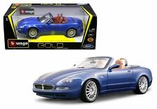 BBURAGO 1:18 GOLD - MASERATI GT SPYDER Diecast Model Car Blue Color