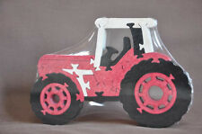 Cabover Farm Tractor Red Farmall NEW Wood Toy Puzzle Scroll Saw