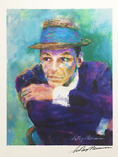 "LeRoy Neiman FRANK SINATRA ""The Voice"" HAND SIGNED Lithograph - Ol Blue Eyes art"