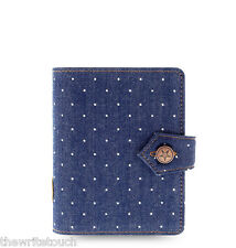New Filofax Pocket Size Denim Dots Organiser Planner Note Diary Indigo - 027034