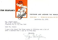 Travel Writer STAN DELAPLANE Typed Note Signed