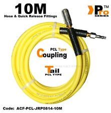 10m Hi-Viz Hose with PCL Type Quick Release Coupling & PCL Type Tail - 300PSI