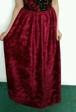 Forrest wine red raven midnight maxi long gothic velvet skirt stretchy gorgeous