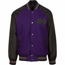 Rocawear Men's Varsity Purple Hip Hop Styled Jackets size: 3XL
