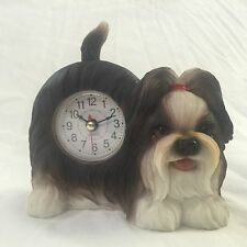 4th of July SALE!!  Critter Clock Shih Tzu Tabletop Wagging Tail Puppy Dog