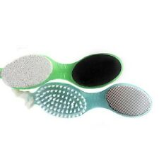 4 In 1 Pedicure Tool Foot Nail Buffer Brush Callus Rasp Scrubs Pumice Stone F7