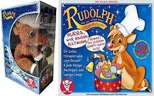 RUDOLPH MIT DER ROTEN NASE - PLÜSCHFIGUR Stofftier + Hörspiel CD RENTIER BOX Neu