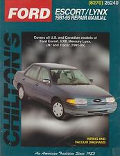 1981-1995 Chilton Ford Escort & Mercury Lynx Repair Manual