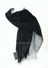 "A/X ARMANI EXCHANGE 80% WOOL TRIPLE SCARF SHAWL BLACK & GRAY 68"" BRAND NEW"