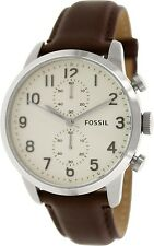 Fossil Men's Townsman FS4872 Brown Leather Quartz Watch