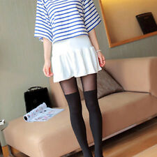 Women Lady Fake High Thigh Over Above Knees Pantyhose Tights Stockings