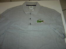 NEW MENS LACOSTE LIGHT GREY S/S LG ALLIGATOR POLO SIZE XXL (8)  $98
