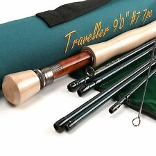 Traveller Korean Carbon Fast Action Fly Fishing Rod Fly Rod--9ft 7wt 7Section