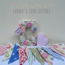 Fabric letters, Wall Art Handmade Padded, Nursery, name, personalised, girl, boy