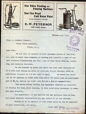 1906 Star Washing Painting Machines Fire Proof Paint - Chicago IL Letter Head