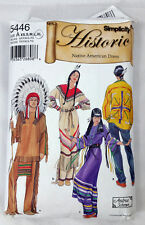 Simplicity Historic Native American Dress Sewing Pattern #5446 Cut to XL