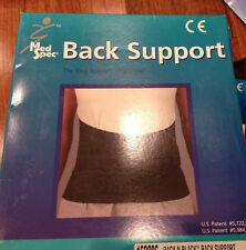 Med Spec Back-N-Black Back Support Brace, Size Large, Black, 163205 New