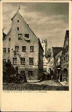 FÜSSEN Gasthof ZUM HASEN Huttergasse Zeichnung um 1920 nach Zeichnung Neumann
