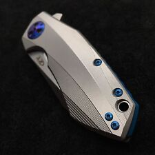 Blue Titanium [ Screw Set ]  for Zero Tolerance 0456 Folder  ZT0456  (NO KNIFE)
