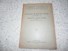 1947.Contributions to geology of Poland.géologie Pologne..