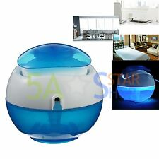 360 Degrees USB air purifier artificial waterfall fragrance humidifier LED light