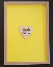 Personalised Wooden-colour Wedding Drop Box Guest Book 100hearts Birthday,