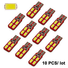 10Pcs Car LED T10 194 W5W LED License Plate Interior Dome Map Light CANBUS White