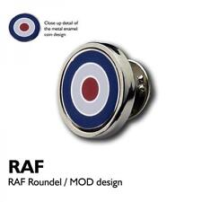 RAF Roundel Lapel Pin Badge Royal Airforce Pilot Plane Military Present GIFT BOX