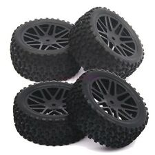 RC 1:10 Off-Road Buggy Car Front&Rear Tyre Tires & Wheel Rim Black 66015-66035