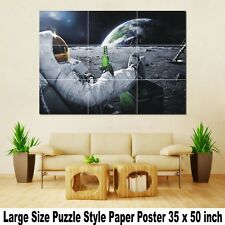 "Wall Large Puzzle Custom Print Decor Art Huge Giant 35""x50"" Poster World Map A09"