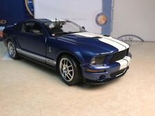 1/24 Franklin Mint Blue Whiet 2007 Shelby Mustang GT 500 GT500 B11E421 #1,628