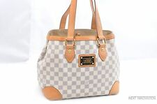 Auth Louis Vuitton Damier Azur Hampstead PM Shoulder Tote Bag LV 28777