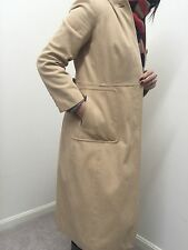 J Crew Fully Lined Long Coat Beige Tan Camel Jacket  Aso Women's Sz 4