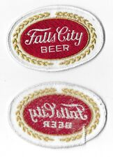 "NOS Falls City Beer Patch Embroidered Patch 4"" x 2 5/8"""