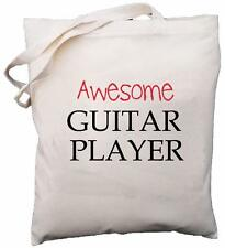 Awesome Guitar Player - Natural Cotton Shoulder Bag - Gift
