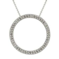 Sterling Silver 1/2 CTW Diamond Eternity Circle Pendant