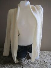 Abercrombie & Fitch Cream Soft Wool Blend Thick Sweater Cardigan Soft Comfy XS