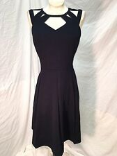 City Chic Sweet Cut Out Navy Size 14 With Pockets!