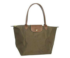 LongChamp pliage folding Long  handle tote bag TAUPE (L)