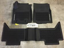 16-17 TACOMA DOUBLE CAB MANUAL TRANS 4X4 ALL WEATHER RUBBER FLOOR LINER MATS
