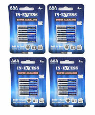 16x (4 packs de 4) in-excess piles alcalines super taille aa lr6-am3-1,5 v
