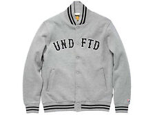 Undefeated Fleece Varsity Jacket Large Grey SB Dunk Supreme Comme des garcon