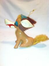Vintage Leather stuffed Dog Carnival prize Christmas decoration