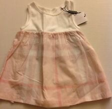Burberry Infant Children Girls Ice Pink Angelina Dress 100% Cotton NWT 6M