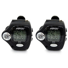 2PC Handheld Digital Freetalker Walkie Talkie Two 2-Way Radio Wist Watch PPT MIC